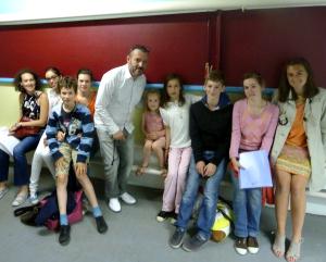 Les enfants après le studio...